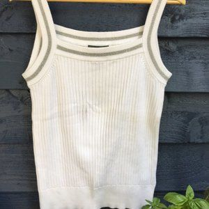 LAUREN-RALPH LAUREN Active White Tank Cotton Large